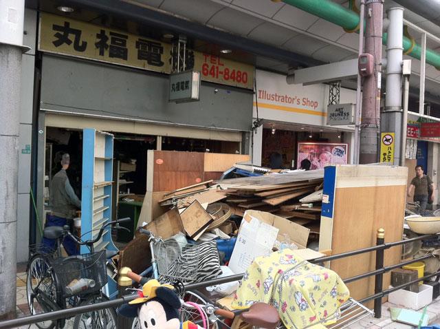 日本橋4丁目の「丸福電気」が完全閉店へ