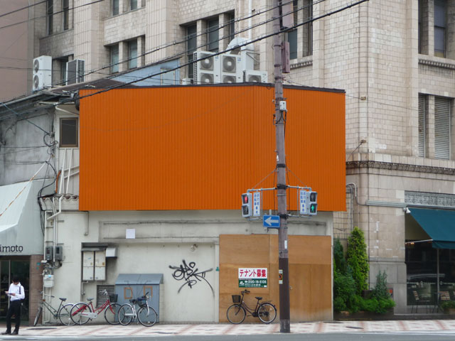 日本橋3丁目の「吉野家」跡は建て替え、年末竣工予定