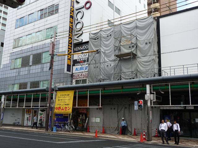 日本橋4丁目「ミニON」跡、隣接ビルと一体で解体へ