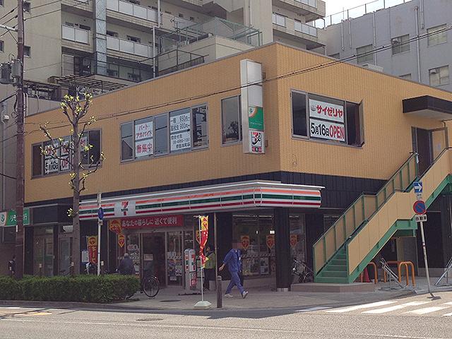 恵美須町・りそな銀行跡の商業ビルにコンビニ「セブンイレブン」の新店舗