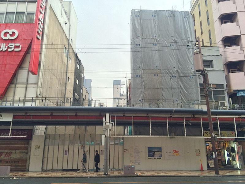 日本橋3丁目のアンエイ跡、今後は隣地と一帯で開発か