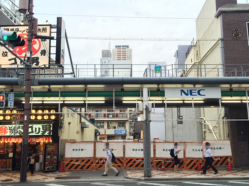 日本橋4丁目・堺筋沿いの駐車場「エコロパーク浪速区日本橋第1」が閉鎖