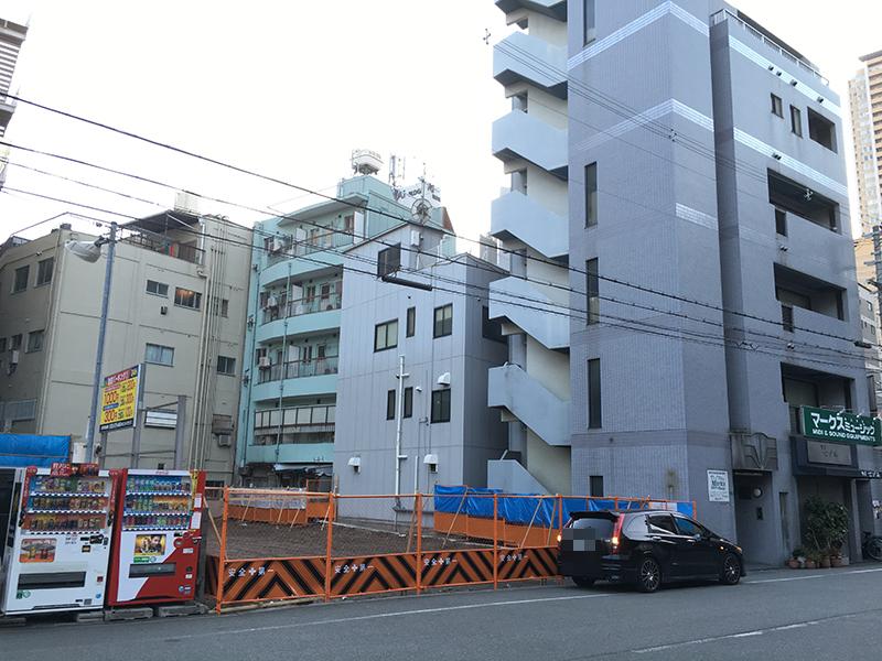 日本橋西・ますや商店跡地にはマンション建設へ 来年7月竣工予定