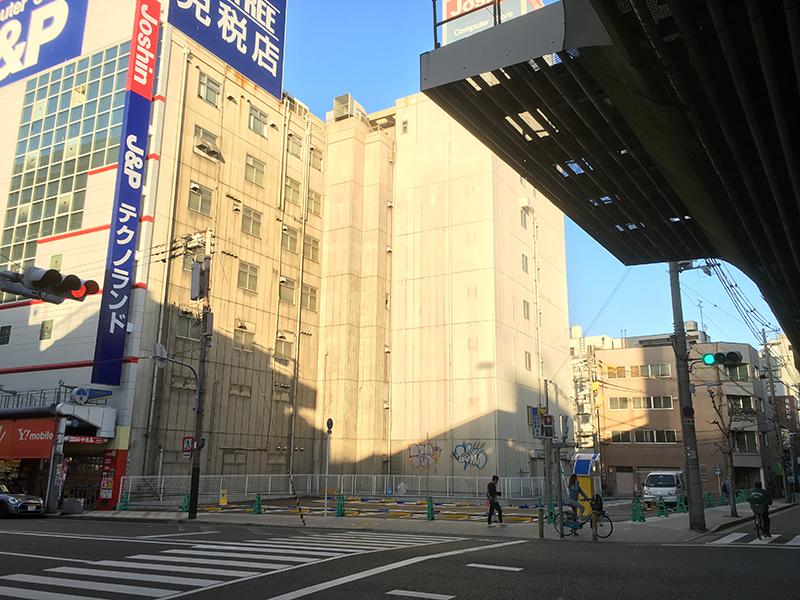 日本橋5丁目・テクノランド南隣の空地はコインパーキングで暫定利用へ