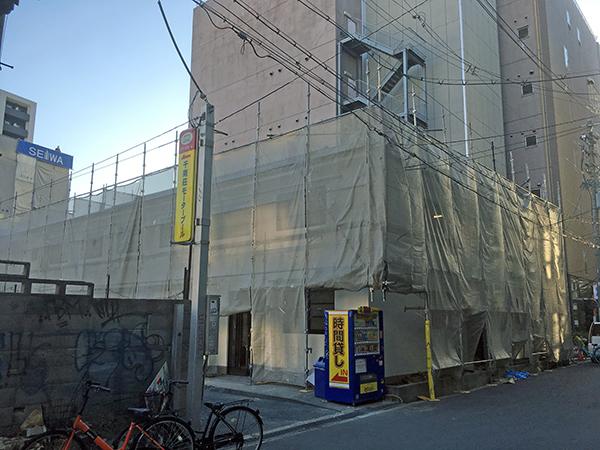 日本橋西のアパート「千南荘」が改装中 全面リノベーションか?