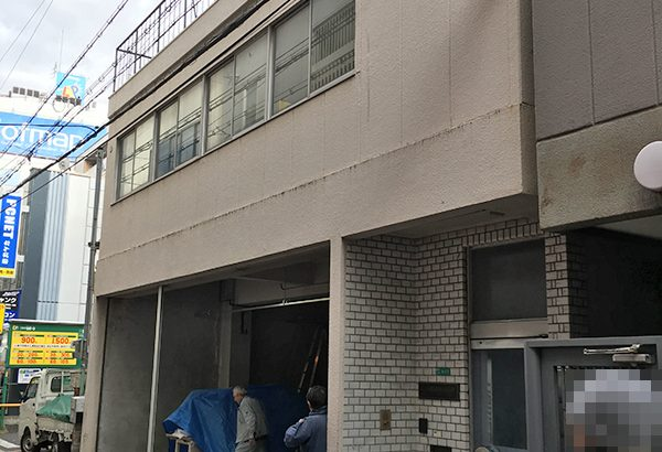 オタロード近くの丸丹無線ビルが改装中 新規テナント入居か?
