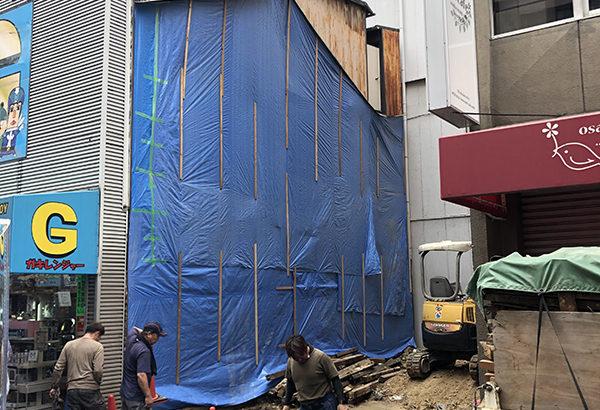 日本橋4丁目の「東京真空管商会」旧店舗跡は解体、更地に