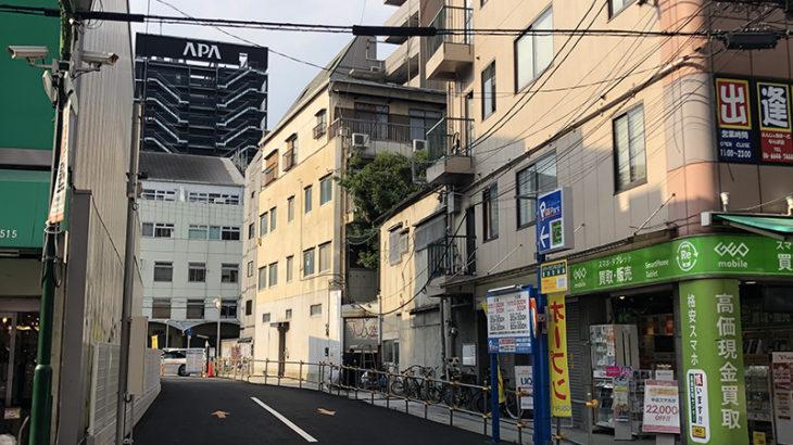 なんさん通り・ステップ跡のホテル計画は中断か 当面は駐車場に